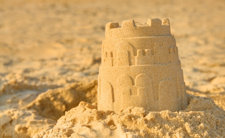 Blog Post 1 Stock Photo Sandcastle